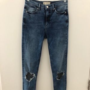 Free people high waisted skinny jeans size 28L